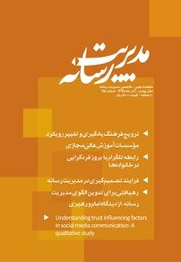 مجله ماهنامه علمی تخصصی مدیریت رسانه شماره ۲۵
