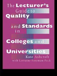 کتاب The Lecturer's Guide to Quality and Standards in Colleges and Universities