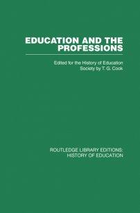 کتاب Education and the Professions