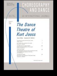 کتاب The Dance Theatre of Kurt Jooss