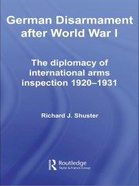 کتاب German Disarmament After World War I