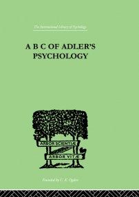کتاب A B C Of Adler'S Psychology
