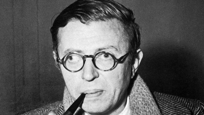 ژان پل سارتر نویسنده مشهور دنیا
