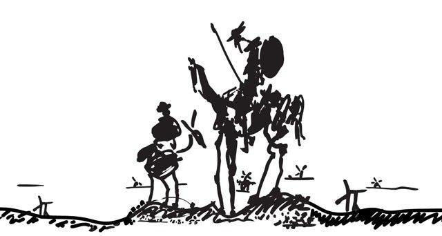 نقاشی پابلو پیکاسو از دن کیشوت